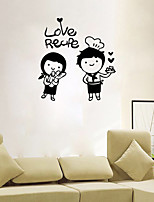 Wall Stickers Wall Decals Style Love Recipe English Words & Quotes PVC Wall Stickers
