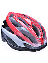 Unisex Fashion and High-Breathability PC + EPP Bicycle Helmet (24Vents) - Red + Silver