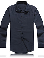 Men's Casual/Work/Formal/Plus Sizes Pure Business Long Sleeve Dress Shirts