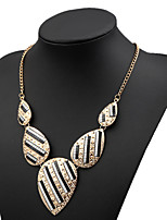 Women's Alloy Necklace With Rhinestone