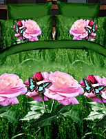 Lai Of Cosette's Creative 3 d Fashion Bedding Four Sets Dancing Butterfly