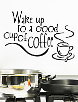 Wall Stickers Wall Decals Style Wake Up To English Words & Quotes PVC Wall Stickers