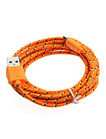 3M Braided Fabric Micro USB Sync Data Charger Cable