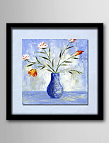 peinture à l'huile toile peinte cadre moderne en bois massif de la main abstraite peintures sans cadre