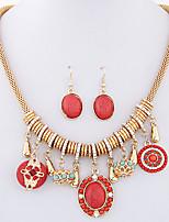 Women's European Style Fashion Bohemian Ethnic Necklace Earring Sets