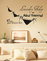 Wall Stickers Wall Decals Style Naked Tomorrow English Words & Quotes PVC Wall Stickers