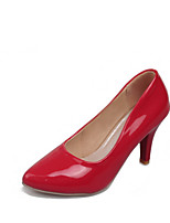 Women's Shoes Patent Leather Stiletto Heel Pointed Toe Heels Dress / Casual Black / Pink / Red / Beige
