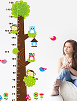 Wall Stickers Wall Decals Style Owl Monkeys Measure Your Height PVC Wall Stickers
