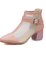 Women's Shoes Suede/Tulle/ Chunky Heel Fashion Boots Boots Outdoor/Office & Career/