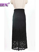 LOCHIRY®Women's Vintage/Sexy/Casual/Lace/Cute Micro-elastic Thin Midi Skirts (Lace/Spandex/Polyester)