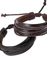 Unisex Fashion  Woven Leather Bracelet