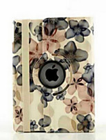 9.7 Inch 360 Degree Rotation Peach Blossom Pattern with Stand Case for iPad Air 2/iPad 6(Assorted Colors)