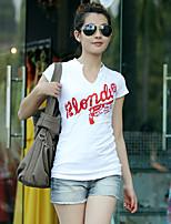 V-hals - Katoen Vrouwen - T-shirt - Korte mouw