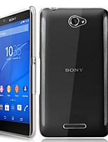 Pour Coque Sony Transparente Coque Coque Arrière Coque Couleur Pleine Dur Polycarbonate pour Sony Sony Xperia E4 / Other