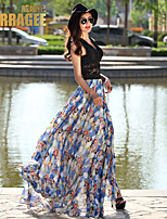Verragee®2015 Summer Women Long Skirts Put On A Large Half-length Long Skirt Elegant Mop Skirt Resort Beach