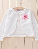 Girl's Cotton Micro-elastic Thin Long Sleeve Jackets & Coats