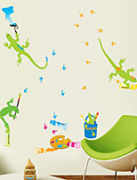 Wall Stickers Wall Decals Style House Lizard Painting PVC Wall Stickers