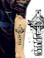 Mysterious Cross Eyes Tattoo Stickers Temporary Tattoos(1 Pc)