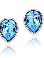 Women's Silver Stud Earrings With Crystal