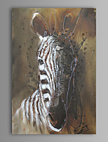 Oil Painting Modern Abstract Zebra Hand Painted Canvas with Stretched Frame