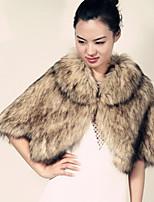 Women Faux Fur Shawls & Wraps (Lined)