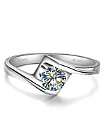 0.6CT Angle Kiss Solitaire Engagement Ring SONA Diamond Jewelry for Women Sterling Silver in 3 Layers Platinum Plated