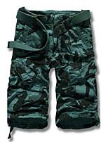 Men's Casual/Plus Sizes Print Sweatpants Pants (Cotton)