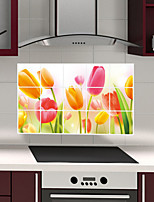 Wall Stickers Wall Decals Style Tulips Fruit Oil Proof PVC Wall Stickers