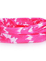 P841  Maple Leaves Pattern Outdoor Multifunctional Seamless Headscarf - Red + White (49 x 24cm)