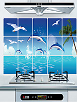 Wall Stickers Wall Decals Style Ocean Oil Proof PVC Wall Stickers