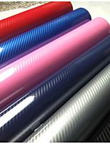 nouveau produit 5d voiture emballage en fibre de carbone voiture de film autocollants taille: 1m * 1.52m 5color