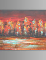 peinture à l'huile moderne paysage abstrait main toile avec cadre étiré peint