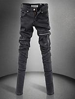 Women's Zipper Pencil Thin Jeans