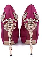 Women's Shoes Silk Stiletto Heel Heels Heels Wedding / Party & Evening / Dress Pink