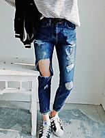 Women's Wind Hole Worn in Nine Harlan Wide Leg Jeans