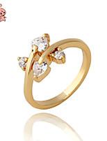 KuNiu Women's High Quality Classic 18K Gold Plated Dainty Princess Cut Rings J0087