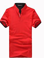 Herren Freizeit/Büro/Sport Polo  -  Einfarbig Kurz Baumwollmischung