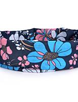 P838  Flowers Pattern Outdoor Multifunctional Seamless Headscarf - Black + Blue (49 x 24cm)
