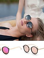 Women 's Mirrored/100% UV400 Round Sunglasses