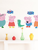 Wall Stickers Wall Decals Style Peppa Pig PVC Wall Stickers