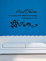 Wall Stickers Wall Decals Style Read English Words & Quotes PVC Wall Stickers