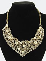 Women's Elegant Crystal Pearls Choker Necklaces