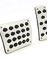 Silver 2PCS Auto Manual Pedal Pad