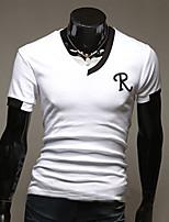 Maimi Men's Casual/Work/Formal Pure Short Sleeve Regular T-Shirts (Cotton)