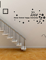 Wall Stickers Wall Decals Style Forever English Words & Quotes PVC Wall Stickers