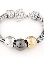 Women's Fashion Metal Trend Alloy Charm With Rhinestone Bracelet