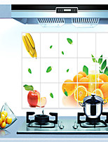 murales huile des fruits orange pvc preuve style Stickers muraux autocollants mur autocollants