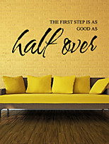Wall Stickers Wall Decals Style The First Step English Words & Quotes PVC Wall Stickers