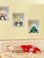 Adesivi murali 3d parete in stile decalcomanie degli autoadesivi della parete personaggi dei cartoni animati in pvc
