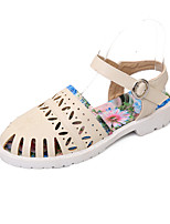 Women's Shoes Flat Heel Mary Jane / Round Toe Sandals Casual Blue / White / Beige